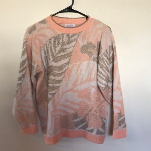 VINTAGE ARIELLE tropical palm pink silver glitter